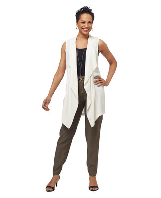 Sleevless Waterfall Vest
