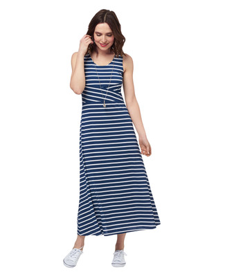 Petite Stripe Angled Maxi Dress