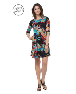 NEW - Abstract Floral Swing Dress