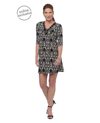 NEW - Tribal Lace Up A-Line Dress