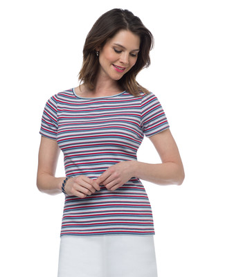 NEW - Stripe Boatneck T-Shirt