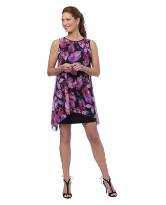 NEW - Chiffon Overlay Floral Dress