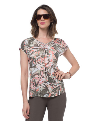 NEW - Palm Leaf Printed Top