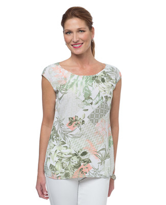 NEW - Tropical Printed Sleeveless Blouse