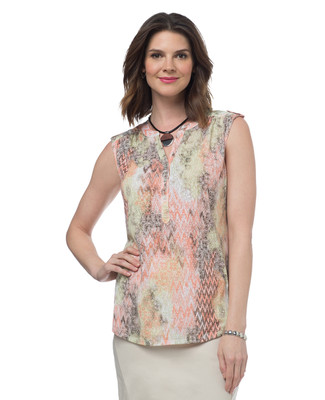 Petite Multi Color Print Top