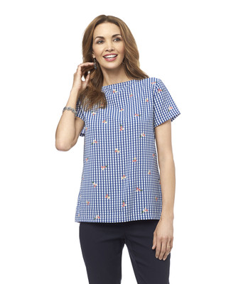 NEW - Gingham Popover Top