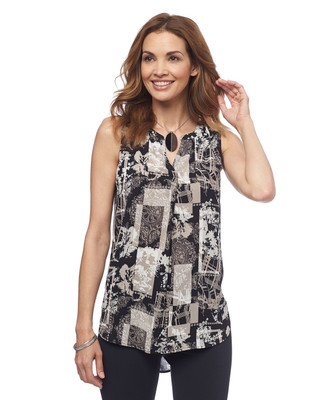 NEW - Sleeveless Printed Tunic
