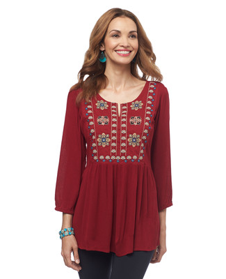 NEW - Embroidered Peasant Blouse
