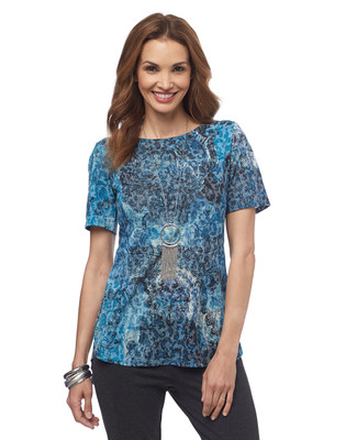 NEW - Paisley Printed Short Sleeve Top