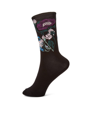 NEW - Floral Bamboo Sock