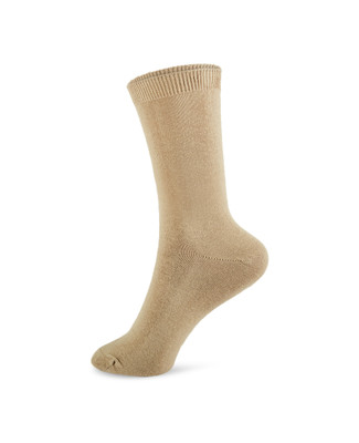 Tan Fashion Jersey Sock