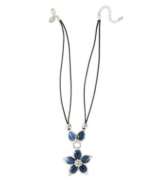 Costume Flower Pendant Necklace