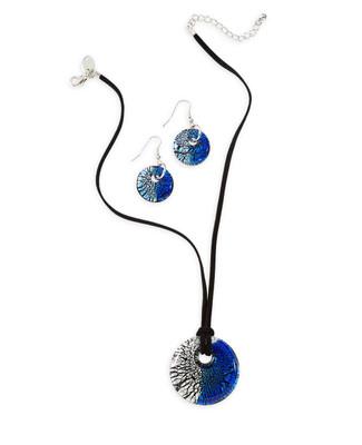 Glass Disc Jewellery Set