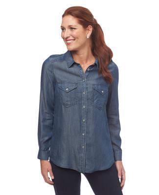 Button Front Tencel Shirt