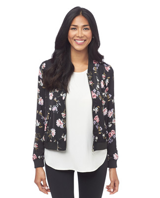 NEW - Floral Print Bomber Jacket