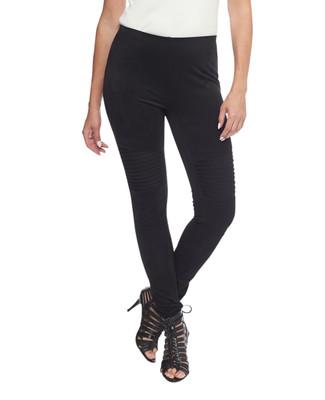 Women's Amanda Green black moto leggings