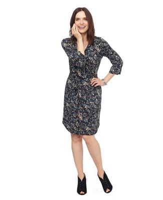 Floral zip up dress