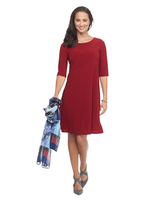 Solid Red Swing Dress