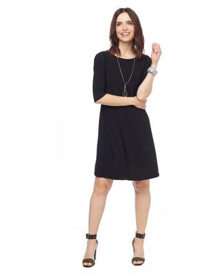 Solid Black Swing Dress