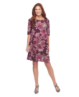 Printed Floral Swing Dress