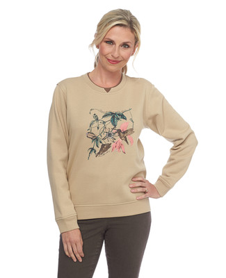 Petite Fly With Me Notch Sweatshirt