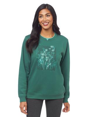 Sketched Wildflower Notch Sweatshirt