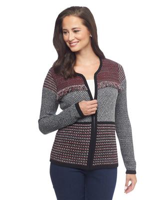 Fringed Sweater Jacket