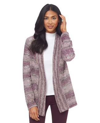 Ombre Pointelle Topper Cardigan