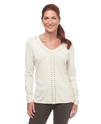 NEW - Long Sleeve V Neck Sweater