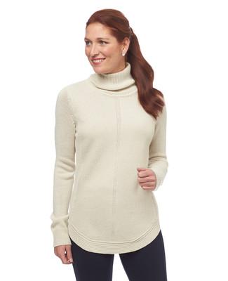 Point Zero Round Hem Turtleneck Sweater