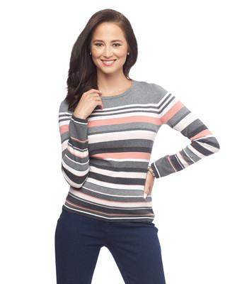 NEW - Stripe Crewneck Pullover Top