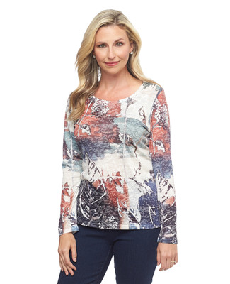 Organic Sublimation Print Pullover Top