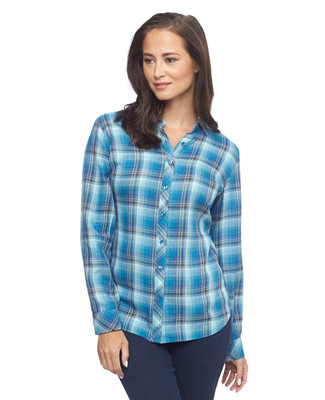 Brooke Button-Up Plaid Shirt