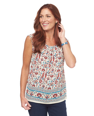 NEW - Floral Printed Sleeveless Pullover Top