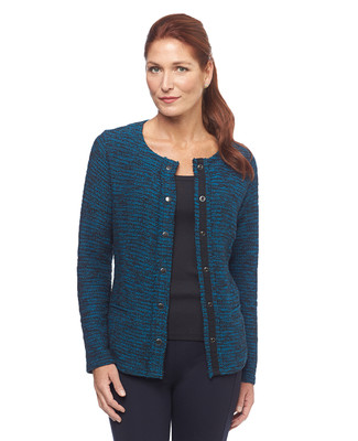 Snap Front Boucle Jacket