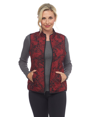 Red Fusion Print Vest