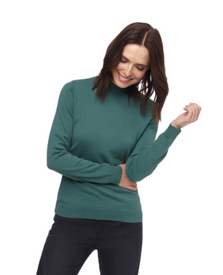 Women's lightweight cotton mock neck