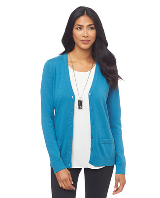 Lightweight Button Front Cardigan