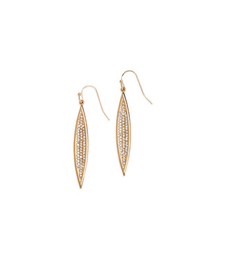 Pave Tear Drop Earring
