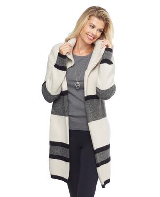 Colour Block Cardigan Coat