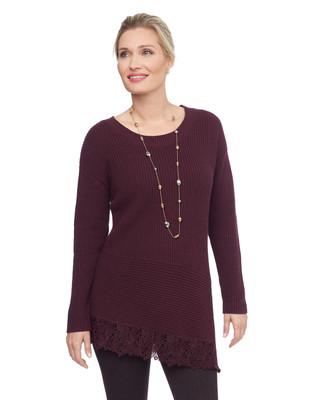 NEW - Crochet Trimed Sweater