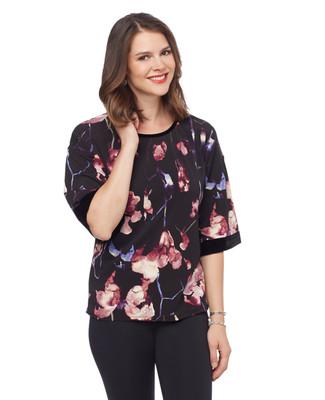 NEW - Velvet Trimmed Fashion Top
