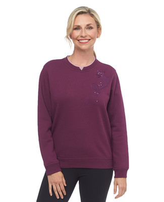 NEW - Purple Patch Leaf Notch Sweatshirt