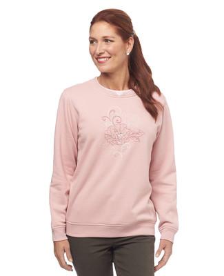 NEW - Centre Rose Notch Sweatshirt