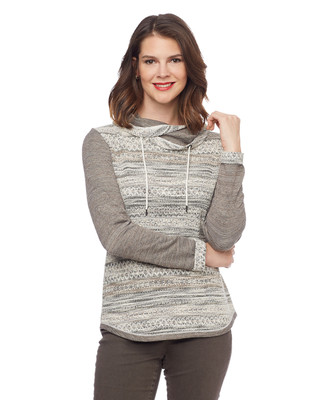 NEW - Jacquard Cowl Pullover