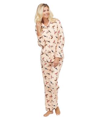 Woman's light pink flannel pyjama set