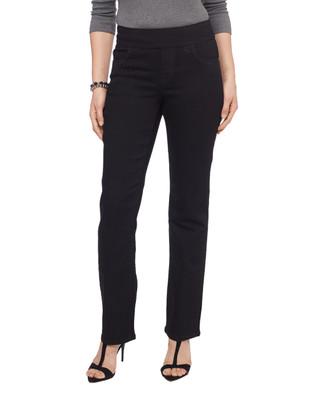 Woman's fancy black rhinestone Comfort Jean