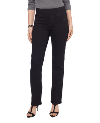 Women's fancy black rhinestone Comfort Jean