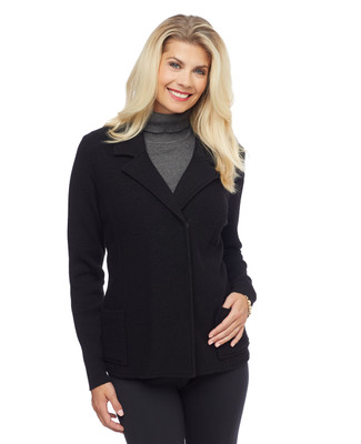 Woman's black boiled wool jacket