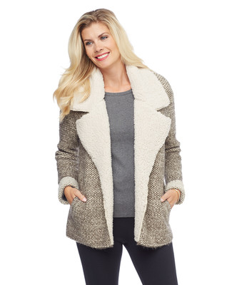 Woman's off white sherpa lined jacket